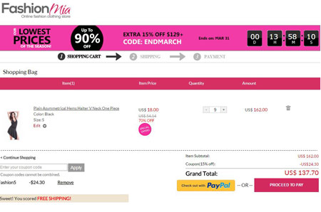 FashionMIA Coupon Codes Coupon Code Basket